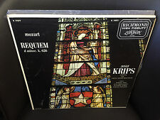 MOZART Requiem D Minor K.626 vinyl LP EX Josef Krips London / Richmond MONO