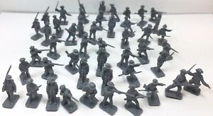 Vintage Airfix Confederate Infantry Civil War Soldiers 25mm lot of 47 Gray mini