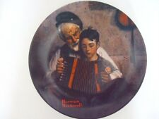 """The Music Maker by Norman Rockwell 1981 Boy Collector Plate 8 1/2"""" dia"""