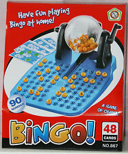 Family Bingo Lotto Game Lottery Number Machine Game 90 Numbered Balls 48 Cards