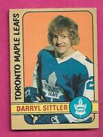 1972-73 OPC # 188 LEAFS DARRYL SITTLER VG+  CARD (INV# C1237)