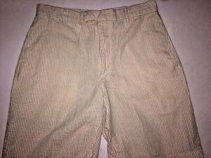 Shark Greg Norman Striped Shorts Men's Cotton Size 30