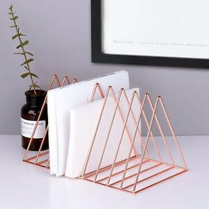 Stainless Steel 9 Triangular Slots Magazine Rack For Home& Office-10 x 8 x 6 Cm