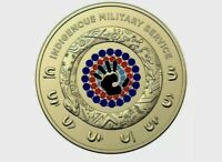 2021 australia  Indigenous Military service $2 coloured UNC coin from mint roll.