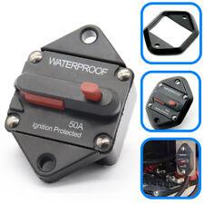 50AMP AMP Marine Circuit Breaker IP67 Waterproof 12V 24V Panel Mount Reset