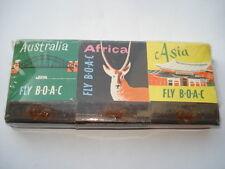 X6 B.O.A.C.AUSTRALIA,AFRICA,ASIA,EUROPE, U.S.A.&CANADA&THE CARIBBEAN BOOKMATCHES