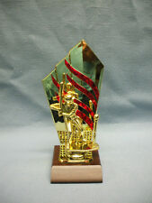 boy t-ball Baseball trophy red and gold backdrop