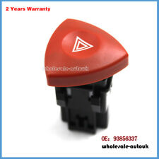 Fit VAUXHALL OPEL VIVARO NISSAN PRIMASTAR HAZARD WARNING LIGHT SWITCH BUTTON RED