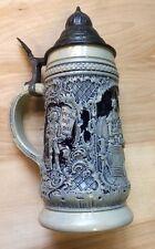 1894 Gersten Saft Gibt Mañes K Kraft 210 Lidded Beer Stein Germany .5L Pre Owned