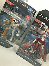 Marvel Avengers Playmation Lot with 2 figures Ultron Bot & Marvel's Falcon