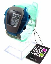CITIZEN INDEPENDENT Digital Watch CTZ-7004 Aqua Green Blue Quirky Retro 90s NOS
