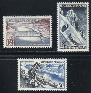 France 1956 MNH Mi 1106-1108 Sc 807-809 French technical achievements **