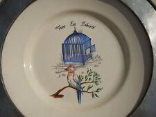 Assiette ceramique Vive La Liberté 1789-1989 St Clément France