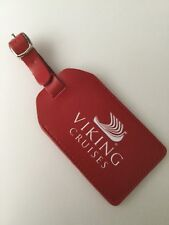 BNWOT 'VIKING CRUISES' RED LUGGAGE TAG