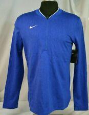 New Nike Dri-Fit Long Sleeve 1/4 Zip Performance Shirt-Men's Blue & White Sz S