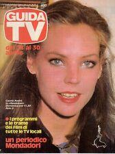 rivista GUIDA TV ANNO 1983 NUMERO 16 CAROLE ANDRE'