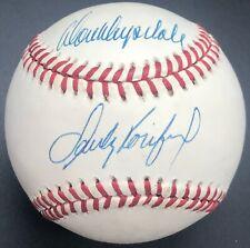 Sandy Koufax & Don Drysdale Dodgers Pitchers AUTOGRAPHED SIGNED BASEBALL JSA