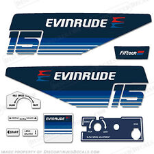 Evinrude 1979 15hp Outboard Decal Kit -Discontinued Decal Reproductions in Stock