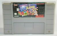 Tetris & Dr. Mario SNES Super Nintendo Authentic, Cleaned & Tested! Works Great!