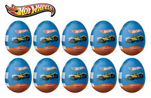 10 x HOT WHEELS Chocolate Surprise Eggs with Toy Inside Contains Tiny Cars