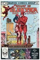 What If 35 Marvel 1982 NM+ 9.6 Frank Miller Elektra Had Lived Daredevil 181