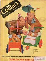 1941 Colliers August 9 - Harness racing; Singapore; Gracie Allen; Lefty O'Dowd