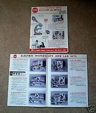 Gilbert Science Toy Microscope Flyer D2182