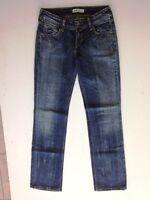 Levis 570 Straight Fit Jeans Hose Dunkelblau Stonewashed W29 L34