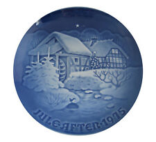 Bing & Grondahl 1975 Christmas Plate At the Old Water Mill Mint Condition
