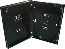 1 x Genuine 4 Way 4 Disc Quad Overlap Black Amaray DVD Case