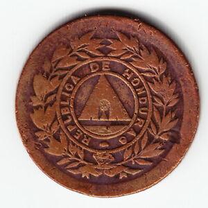 HONDURAS 1 centavo 1891 KM61 Bronze ERROR: REPLBLICA above average VERY RARE !