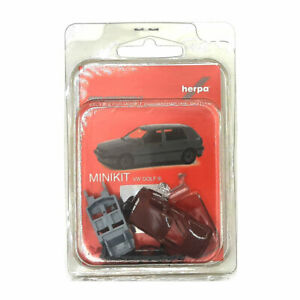 Herpa 012355-008 Miki VW Golf III Bordeaux Maßstab 1:87 Voiture Miniature Neuf