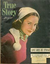 1948 True Story Magazine January: Love Goes On Strike/Babys For Sale Blackmarket
