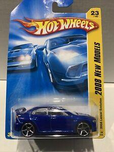 Hot Wheels 2008 Lancer Evolution 2008 New Models [ BLUE ] SEALED UNOPENED XHTF