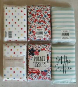 Pocket Tissues 12 Pack x 2 - London Theme - Humble Vintage - Got the Sniffles