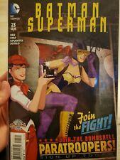 BATMAN SUPERMAN #23 (2015) DC 52 COMICS BATGIRL BOMBSHELLS Signed by Greg Pak