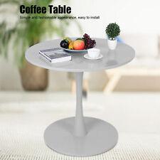 Beistelltisch Rund Couchtisch Kaffeetisch Gartentisch Balkon Weiß/Grau Ø80 cm DE