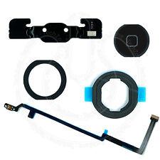 Ipad 5, iPad Air noir bouton Home Caoutchouc Joint Support Flex Adhésif Ensemble Complet