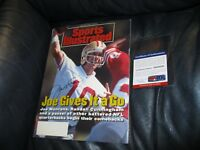 Joe Montana autographed Sports Illustrated Magazine PSA Certifed
