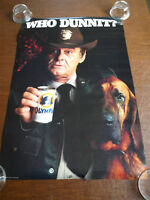 Brand New vintage new Olympia Brewery beer Artesian poster Who Dunnit? 1980s Oly