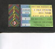 1983 Neil Young Solo Tour concert ticket stub Uniondale NY Everybody's Rockin