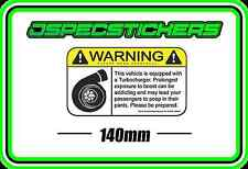 STICKER WARNING BOOST FUNNY TURBO STICKER WRX EVO NISSAN PATROL PAJERO DIESEL
