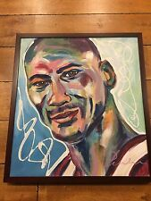 "Michael Jordan 21""x23"" Framed artist enhanced giclee (signed by unknown artist)"
