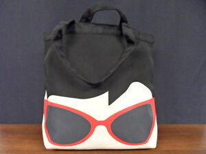 Rare Lulu Guinness Sunglasses Doll Face Lily Tote Bag