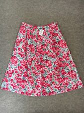 🌹 Brand New With Tags Designer Cath Kidston Floral Rose Summer Skirt Size 10 🌹