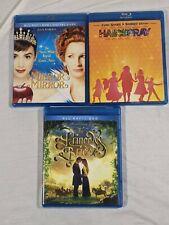 3 Movie Lot The Princess Bride 25th Anniversary Jairspray, Mirror Mirror Blu-ray