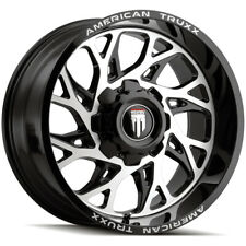 4 American Truxx Destiny 20x10 5x55x55 Blackmachined Wheels Rims 20 Inch Fits More Than One Vehicle