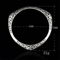 925 Sterling Solid Silver Bangle Bracelets For Women Lovers Jewelry Chain Gifts