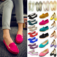 Women Slip On Ballerina Ballet Flats Pumps Loafer Lady Dolly Bridal Casual Shoes