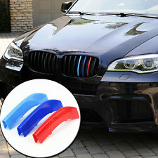 2013 2014 For BMW X6 E71 M-colored Front Grille Grill Insert Decoration 3pcs